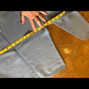 Ann Taylor Sweaters - Ann Taylor 100% Wool Dusty Blue Mock Neck Sweater